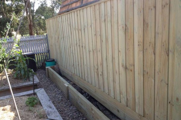 Treated Pine Paling with Double Plinth and Droppers