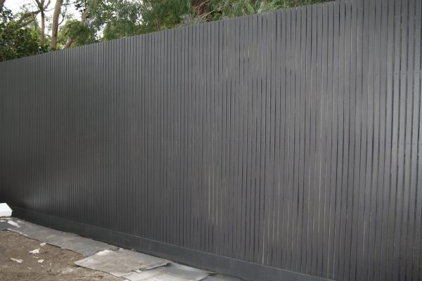 Feature Batten Fence using 42/42mm battens and 140/45 Plinth