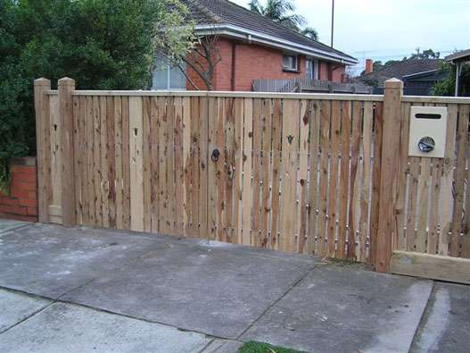 Double Gates clad with Cypress Decking