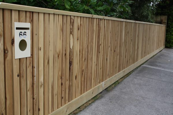 Feature Cypress picket fence with capping