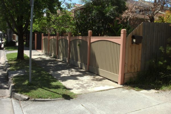 Feature Picket fence with Arch boards