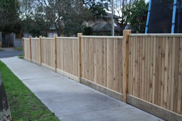 Feature Picket fence with Exposed posts and Gabled Lipped Capping