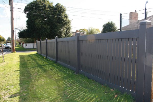 Cypress Picket fence with Gabled Lipped Capping and concealed posts
